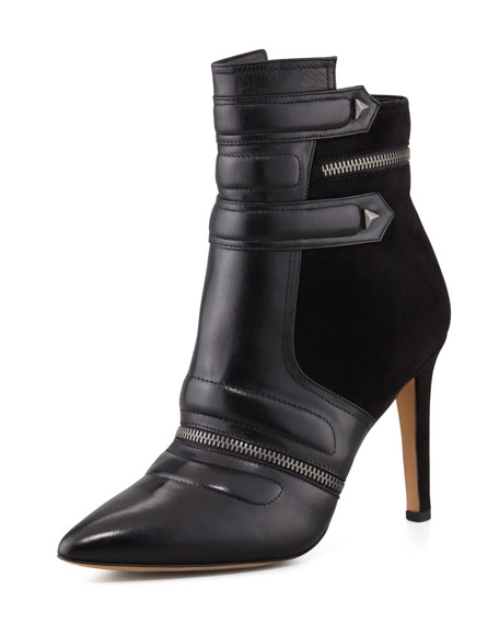 Margo Suede & Leather Bootie, Black