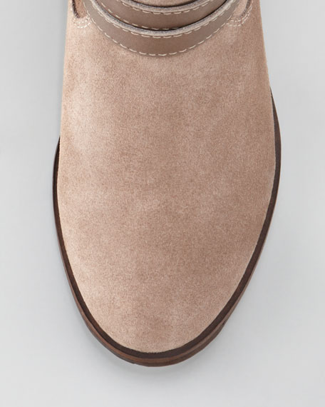 Business as Usual Suede Boot, Taupe