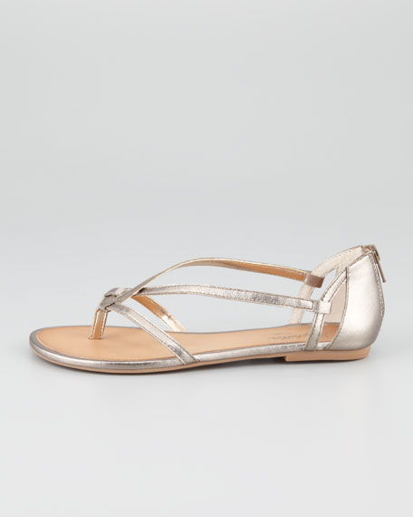 Time After Time Metallic Thong Sandal