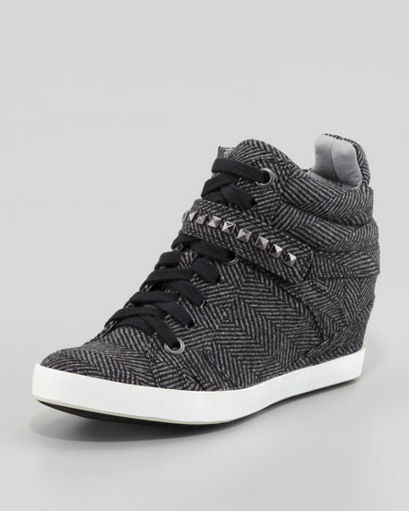 Hayden Herringbone Hidden-Wedge Sneaker