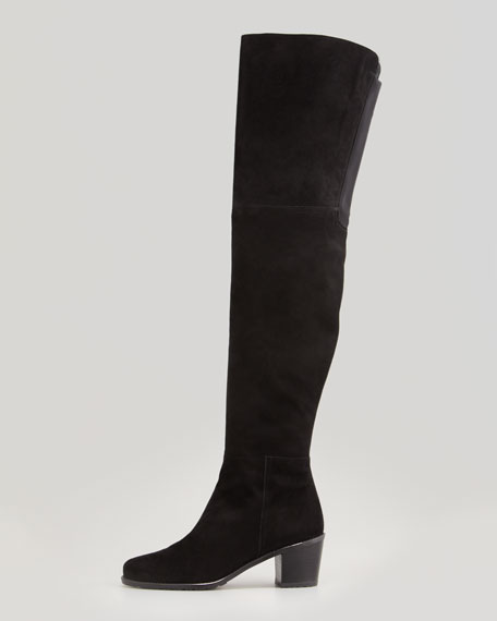 Hitest Suede Over-the-Knee Boot, Black