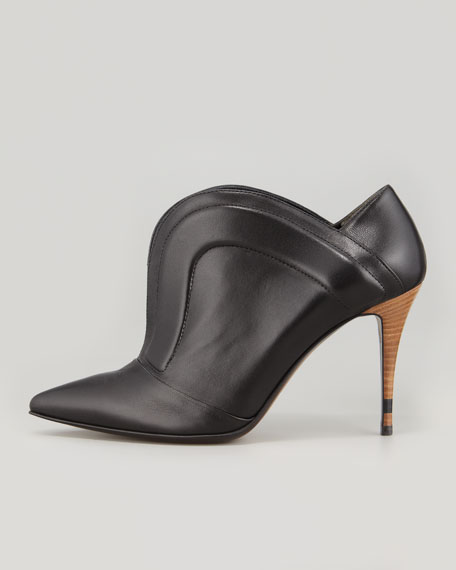 Pointed Piped Split-Front Bootie