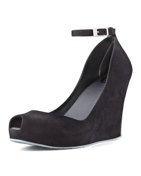 Patchouli VI Ankle-Strap Wedge, Black/Gray