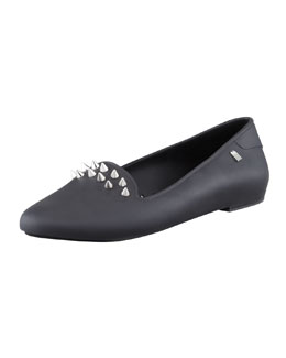 Melissa Shoes Virtue III Spiked Jelly Slipper