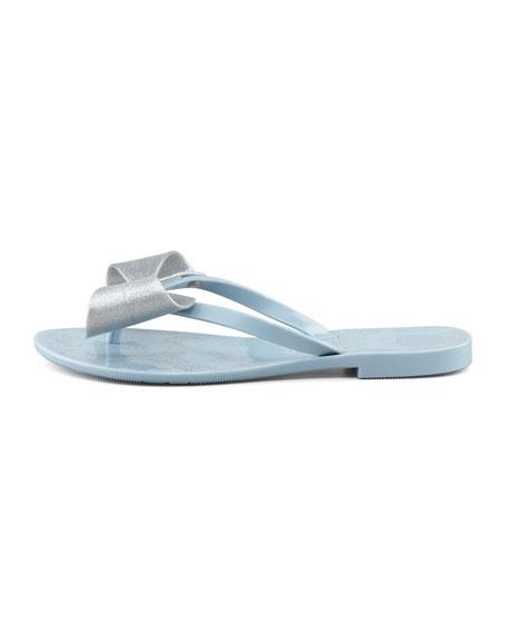 Harmonic II Jelly Bow Thong Sandal, Silver