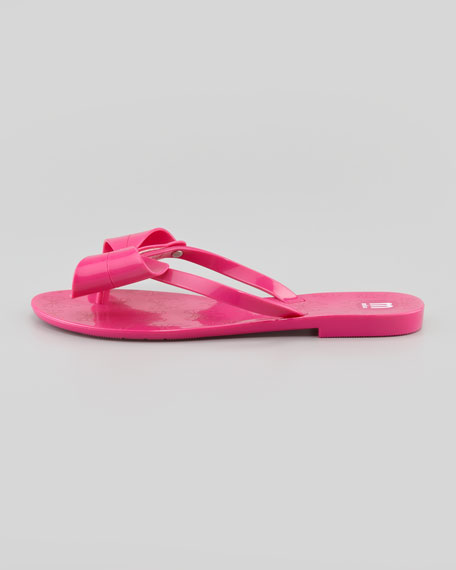 Harmonic II Jelly Bow Thong Sandal, Pink