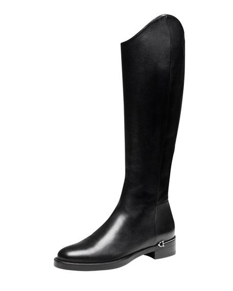 Flat Riding Boot, Black