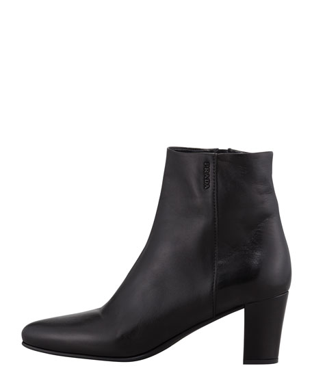 Napa Mid-Heel Ankle Boot, Black
