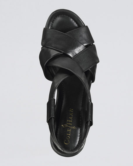 Air Dinah Strappy Sandal, Black