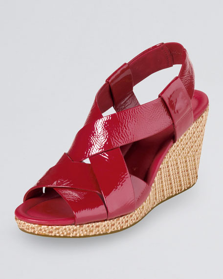 Air Dinah Patent Strappy Sandal, Red