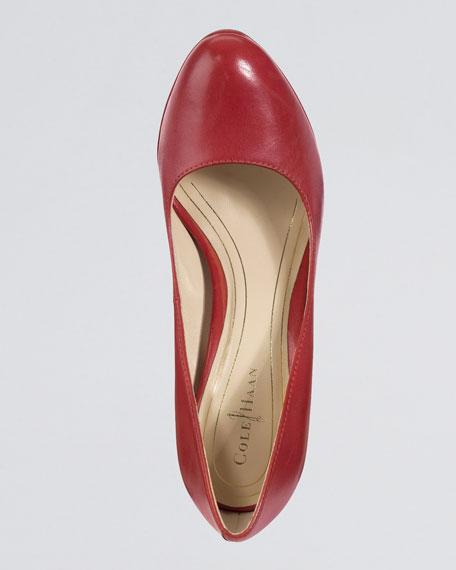 Chelsea Pump, Cherry Red