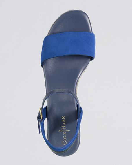 Arden Nubuck Wedge Sandal, Empire Blue