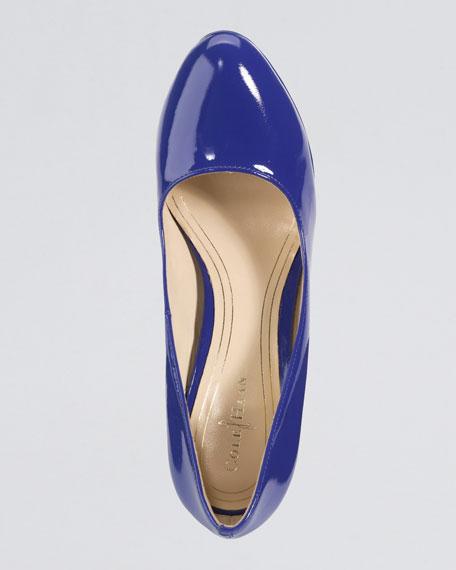 Chelsea Patent Pump, Cobalt Blue