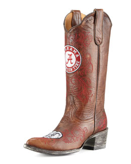 Gameday Boot Company University of Alabama Tall Gameday Boots, Brass
