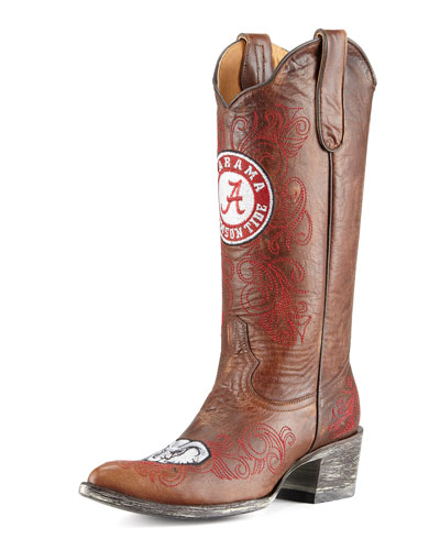 University of Alabama Tall Gameday Boots, Brass