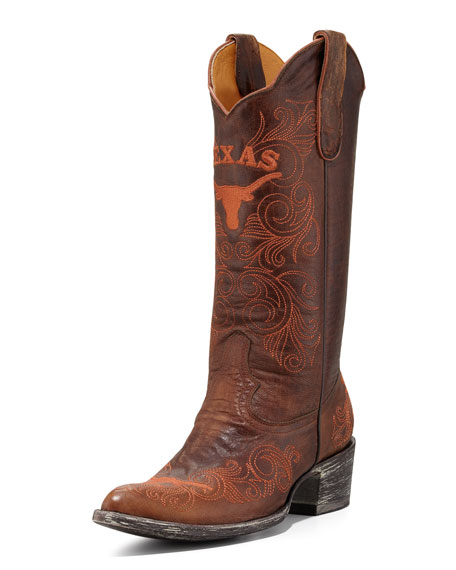 University of Texas Tall Gameday Boots, Brass