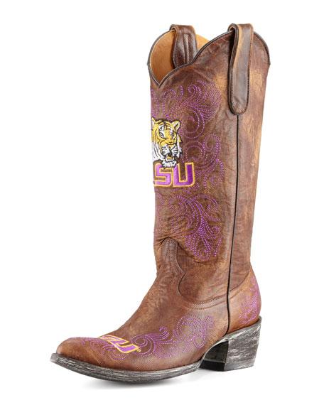 LSU Tall Gameday Boots, Brass
