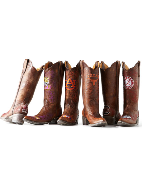 Texas A&M Tall Gameday Boots, Brass