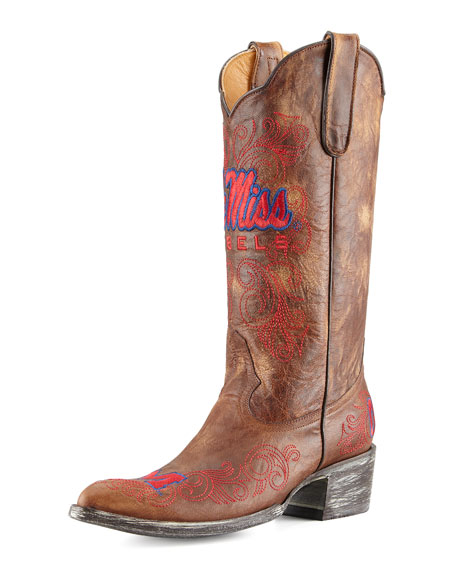 Ole Miss Tall Gameday Boots, Brass