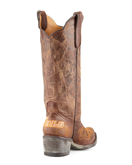 University of Tennessee Tall Gameday Boots, Brass