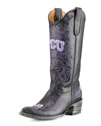 TCU Tall Gameday Boots, Black