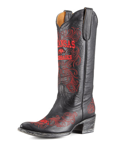 University of Arkansas Tall Gameday Boots, Black