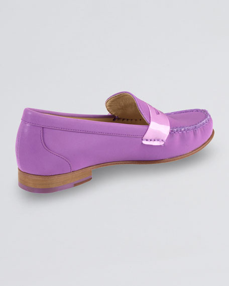 Air Monroe Suede Penny Loafer, Aster Purple