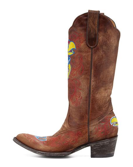 University of Kansas Tall Gameday Boot, Brass