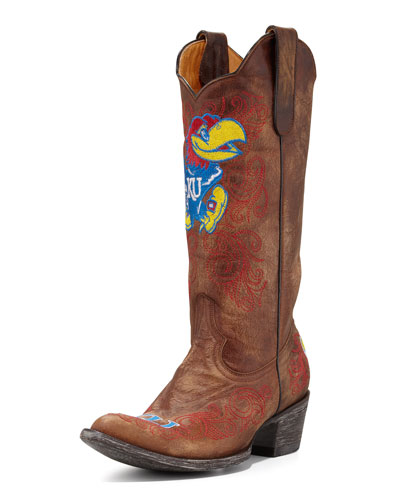 University of Kansas Tall Gameday Boot, Brass