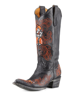 Gameday Boot Company Oklahoma State Tall Gameday Boots, Black
