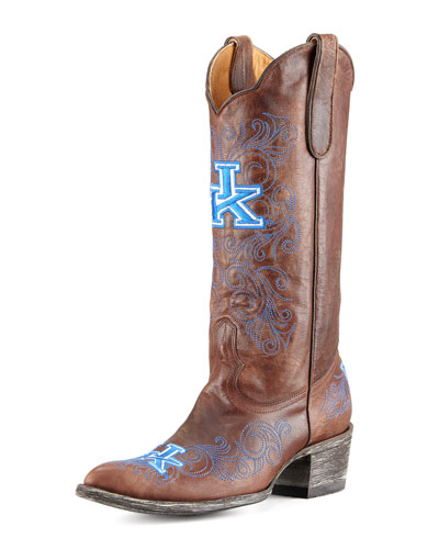 University of Kentucky Tall Gameday Boots, Brass