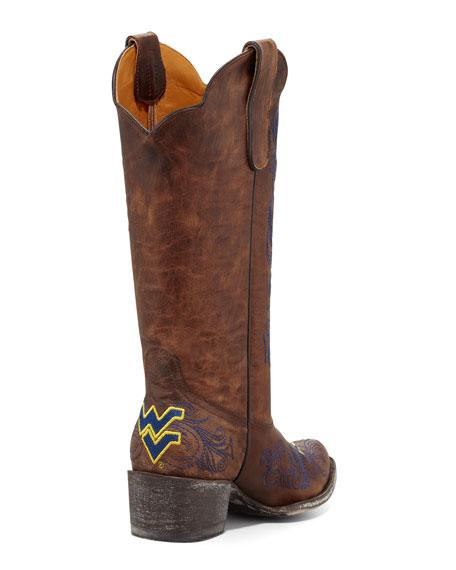West Virginia Tall Gameday Boots, Brass