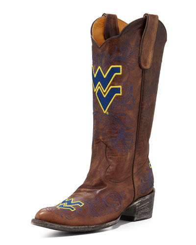 West Virginia Tall Gameday Boots, Brass