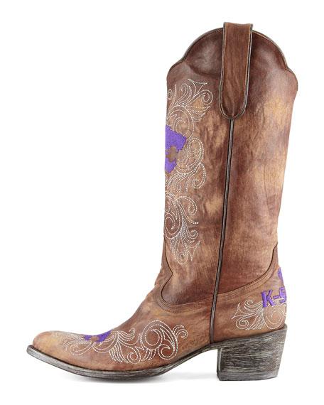 Kansas State Tall Gameday Boots, Brass