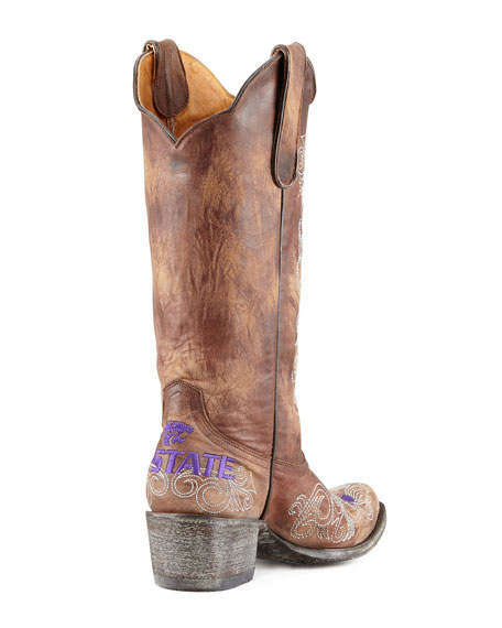 Kansas State Tall Gameday Boots, Brass