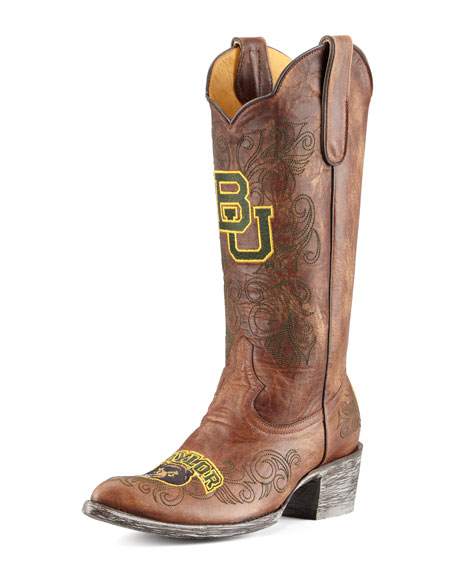 Baylor Tall Gameday Boots, Brass