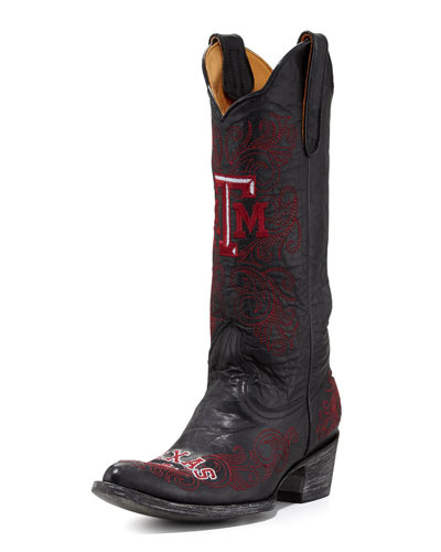 Texas A&M Tall Gameday Boots, Black