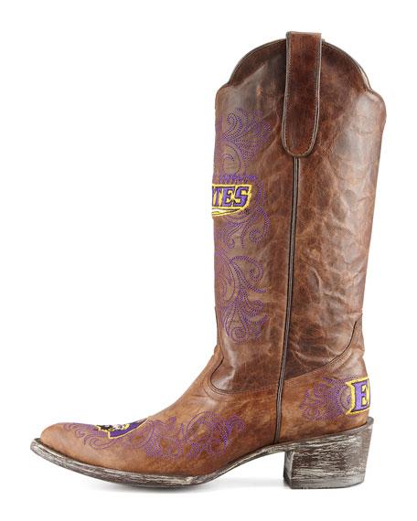 East Carolina University Tall Gameday Boots, Brass