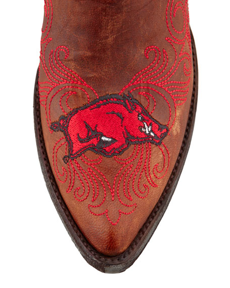 University of Arkansas Tall Gameday Boots, Brass