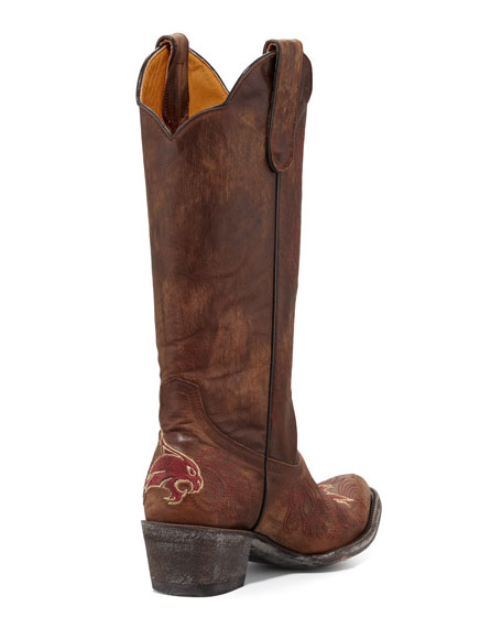 Texas State Tall Gameday Boots, Brass