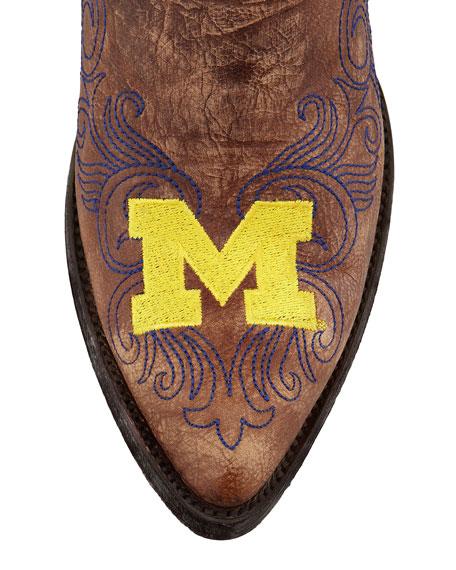 University of Michigan Tall Gameday Boots, Brass