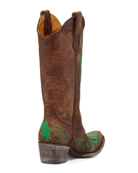 University of North Texas Tall Gameday Boots, Brass