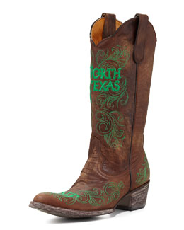 Gameday Boot Company University of North Texas Tall Gameday Boots, Brass