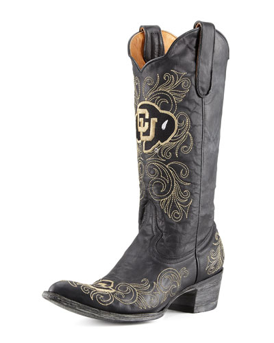University of Colorado Tall Gameday Boots, Black