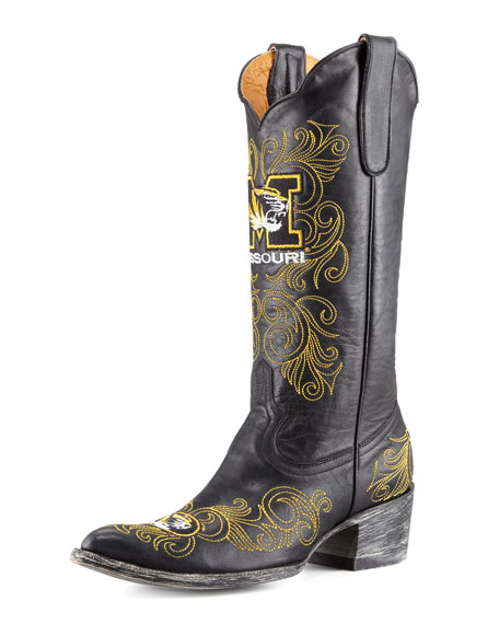 University of Missouri Tall Gameday Boots, Black