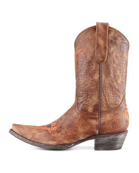 University of Texas Short Gameday Boots, Brass