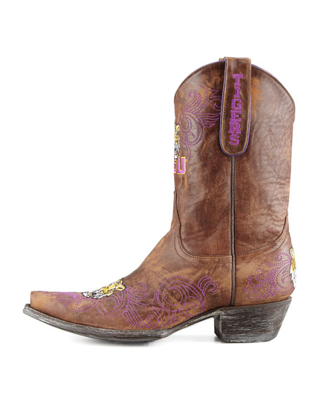 LSU Short Gameday Boots, Brass