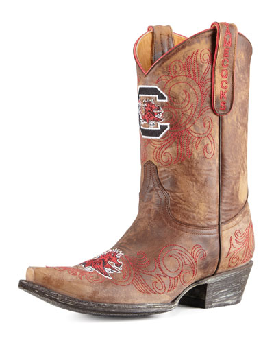 University of South Carolina Short Gameday Boots, Brass