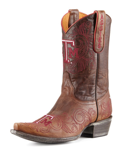 Texas A&M Short Gameday Boots, Brass