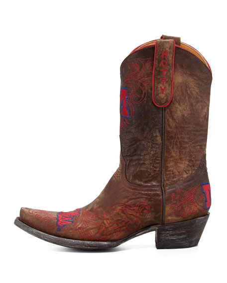 Ole Miss Short Gameday Boots, Brass